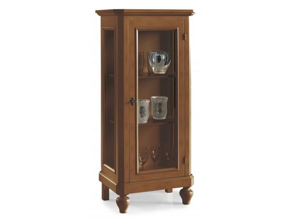 Βιτρίνα Ξύλινη Country Classical Collection με 1 πόρτα 60x40x131 εκ.