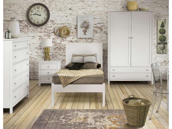 Κλασικό παιδικό Υπνοδωμάτιο Country Collection από ξύλο σε λευκό ματ χρωματισμό