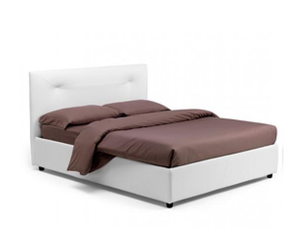 Κρεβάτι GINEVRA με χειροποίητες ραφές και μαλακό κεφαλάρι
