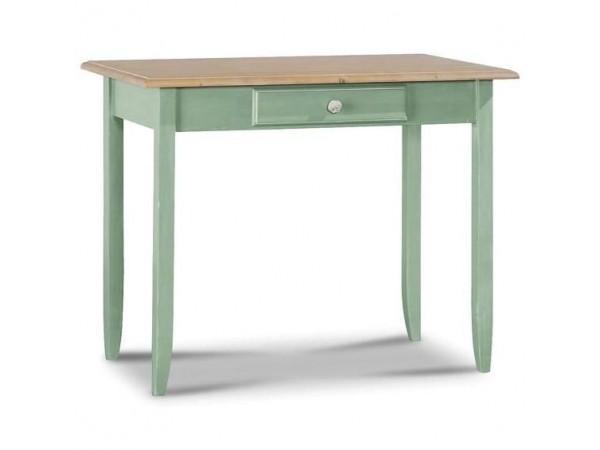 Παιδικό Γραφείο μασίφ ξύλινο GREEN σε πράσινο χρωματισμό με 1 συρτάρι 99x61x80 εκ.