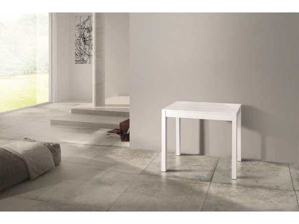 Κονσόλα Δρυς Ξύλινη Επεκτεινόμενη Modern Collection Design σε λευκό χρωματισμό 90x50 εκ.