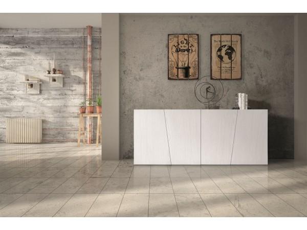 Μπουφές Ξύλινος Modern Collection Design σε Λευκό χρωματισμό με 4 πόρτες 180x50x75 εκ.