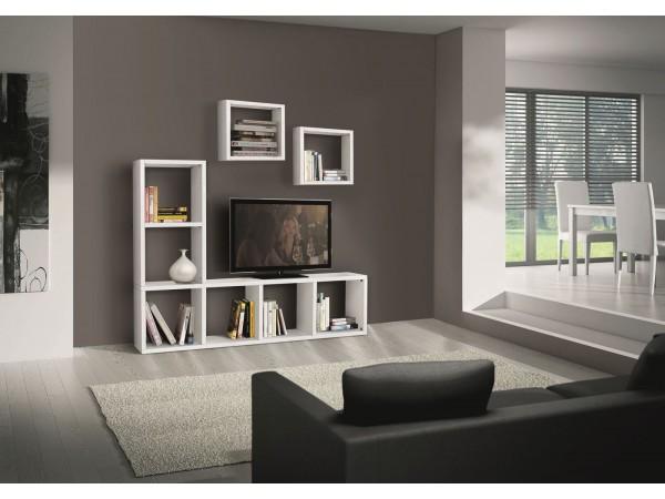 Έπιπλο τηλεόρασης ξύλινο σε bianco frassinato χρωματισμό 175x30x132 εκ.