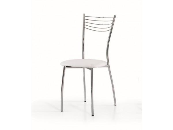 Καρέκλα White Stripes με μεταλλικά πόδια και δομή