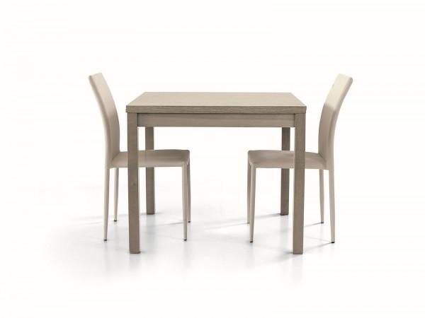 Τραπέζι από ξύλο επεκτεινόμενο modern style σε rovere grigio χρωματισμό 90x90x76 εκ.