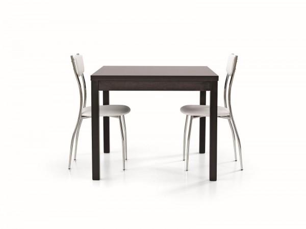 Τραπέζι από ξύλο επεκτεινόμενο modern style σε rovere moro wenge χρωματισμό 90x90x76 εκ.