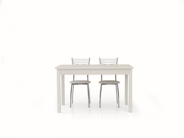 Τραπέζι από ξύλο επεκτεινόμενο modern style σε bianco frassinato χρωματισμό 140x90x76 εκ.