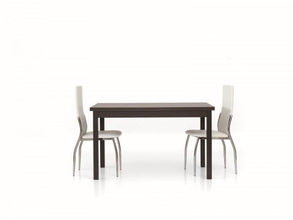 Τραπέζι από ξύλο επεκτεινόμενο modern style σε rovere moro wenge χρωματισμό 130x80x76 εκ.