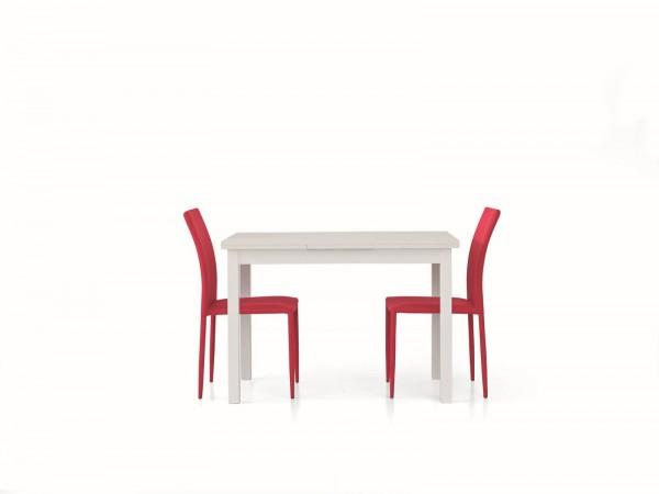 Τραπέζι από ξύλο επεκτεινόμενο modern style σε bianco frassinato χρωματισμό 120x80x76 εκ.