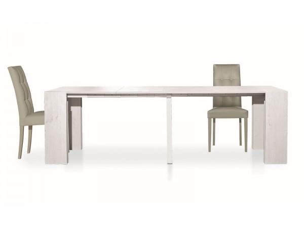 Κονσόλα-Τραπεζάρια Ξύλινη Επεκτεινόμενη Bianco Abete 90x45x75 εκ.