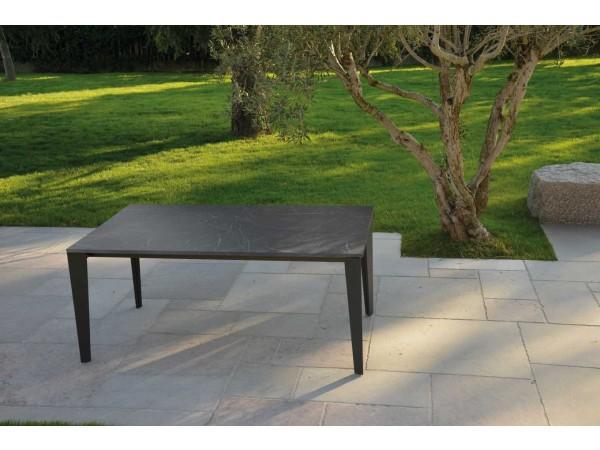 Τραπέζι από  HPL σε όψη μαρμάρου επεκτεινόμενο Modern Marmo Nera σε μαύρο χρωματισμό 160x90x78 εκ.