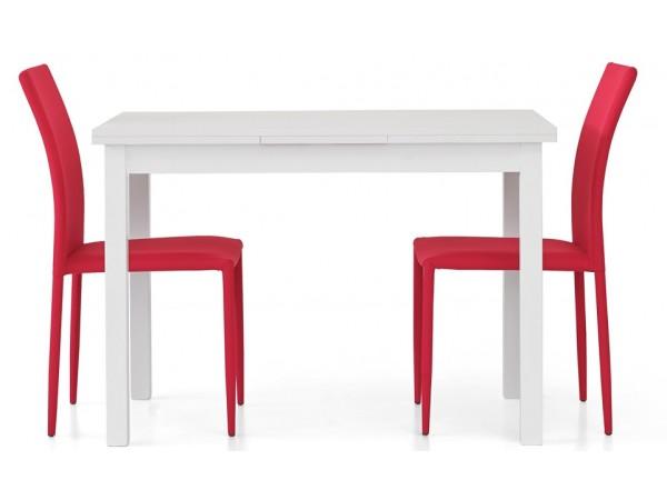 Τραπέζι από HPL επεκτεινόμενο modern style σε bianco frassinato χρωματισμό 110x70x76 εκ.