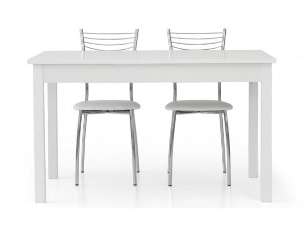 Τραπέζι από HPL επεκτεινόμενο modern style σε bianco frassinato χρωματισμό 140x90x76 εκ.