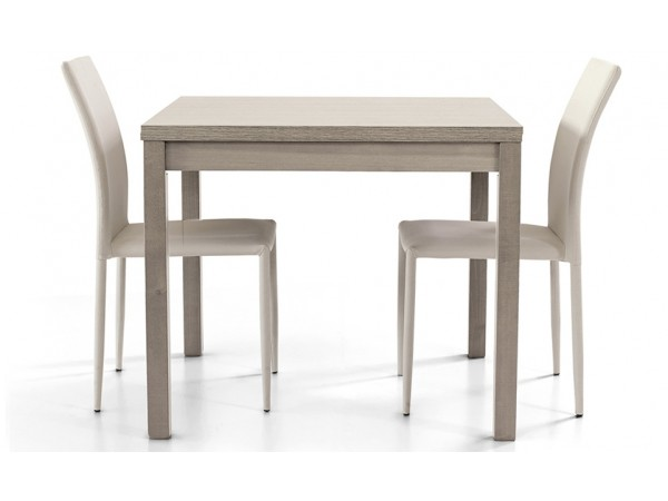 Τραπέζι από HPL επεκτεινόμενο modern style σε rovere grigio χρωματισμό 90x90x76 εκ.