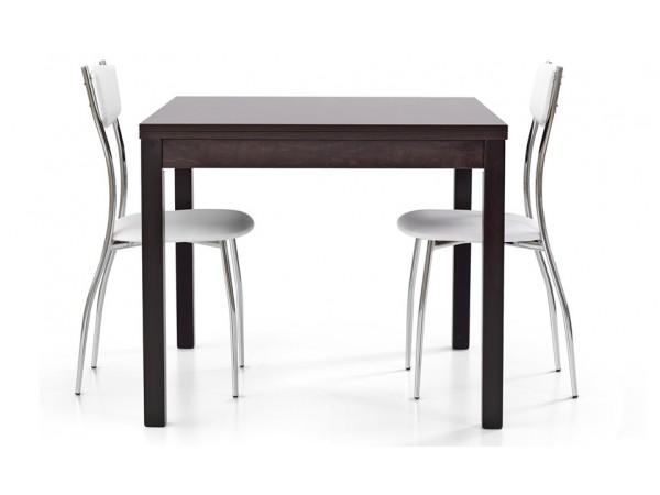Τραπέζι από HPL επεκτεινόμενο modern style σε rovere moro wenge χρωματισμό 90x90x76 εκ.