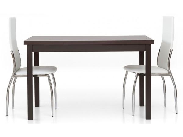 Τραπέζι από HPL επεκτεινόμενο modern style σε rovere moro wenge χρωματισμό 130x80x76 εκ.