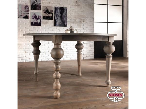 Τραπέζι JALAJA από ξύλο Mango με 4 διαφορετικά πόδια 140x76 εκ.