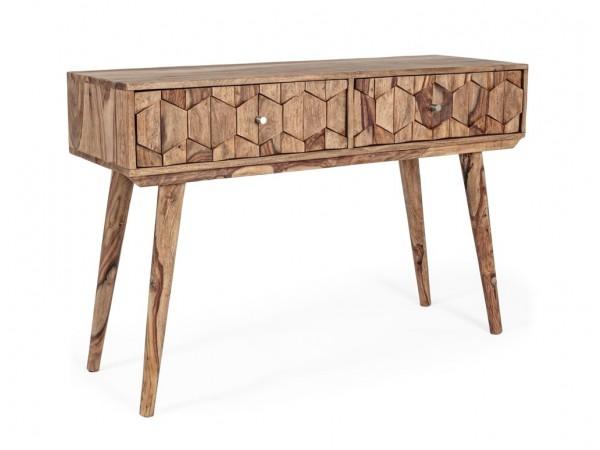 Κονσόλα από ξύλο KANT με 2 συρτάρια 113x40x77 εκ.