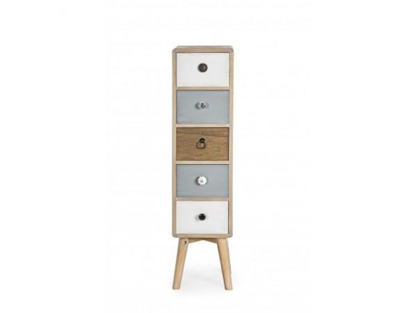 Συρταριέρα LETIZIA SMALL με 5 συρτάρια 23x20x94,5 εκ.