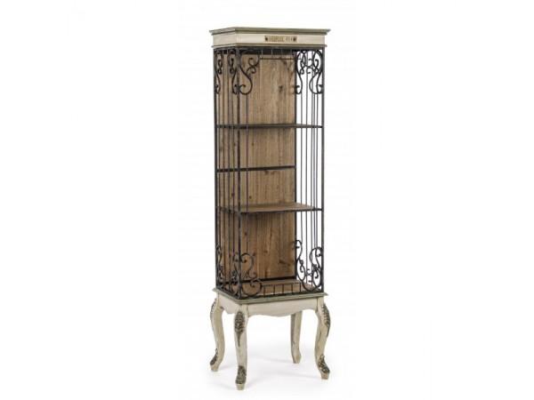 Βιβλιοθήκη Ραφιέρα LIVERPOOL από ξύλο πεύκου και σίδερο 46,2x33x159,5 εκ.