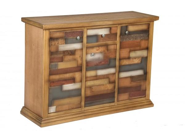 Μπουφές Ξύλινος Loft Natural με 3 πόρτες και 1 συρτάρι 122x40x87 εκ.