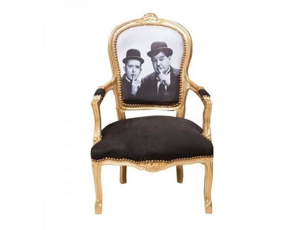 Πολυθρόνα Louis XIV French style σε μασίφ ξύλο 65x65x98 εκ.