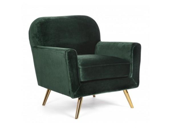 Πολυθρόνα LYDIA DARK GREEN VELVET σε πράσινο χρωματισμό 80x75x93 εκ.