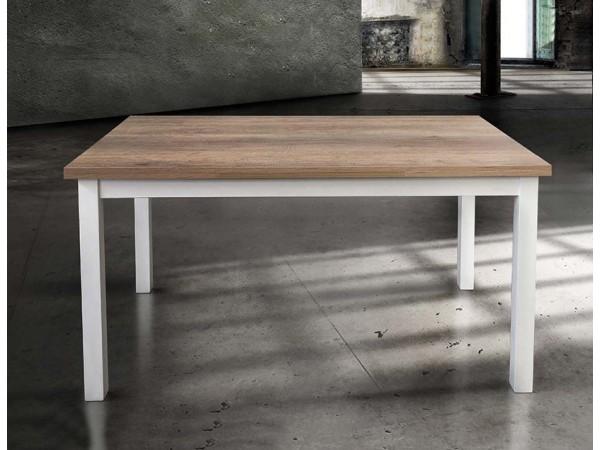 Τραπέζι από HPL Επεκτεινόμενο Modern Collection Design με λευκά μεταλλικά πόδια 110x70 εκ.