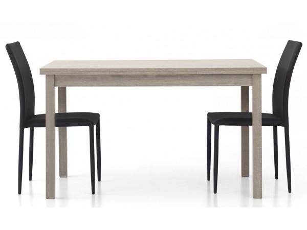 Τραπέζι από HPL επεκτεινόμενο modern style σε rovere grigio χρωματισμό 130x80x76 εκ.
