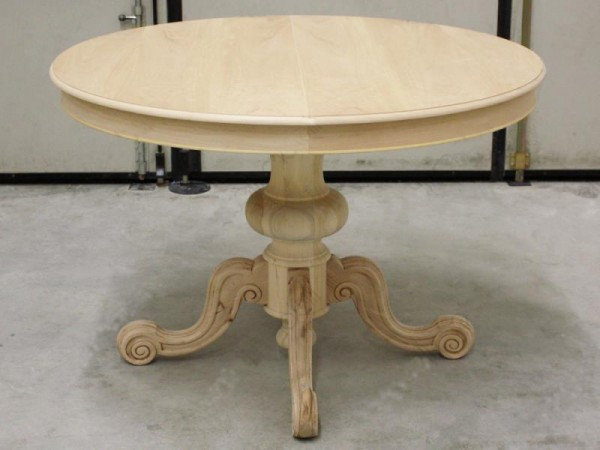 Τραπέζι Ξύλινο Άβαφο με επέκταση σε 2 διαστάσεις