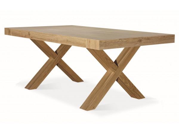 Τραπέζι Ξύλινο Rovere Consumato με 2 επεκτάσεις 180X100