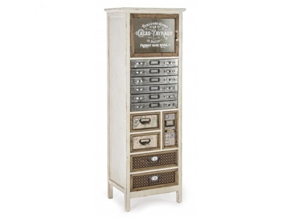 Συρταριέρα SIXTEM με 1 πόρτα και 11 συρτάρια 47x35x141 εκ.
