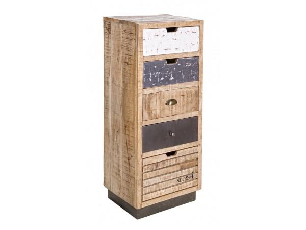 Συρταριέρα TUDOR 5DR 45x35x110 εκ.
