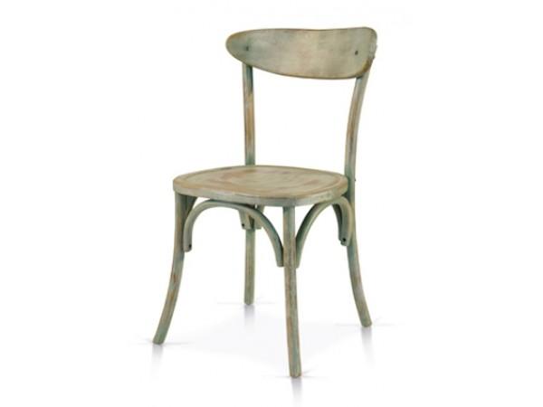 Καρέκλα Ξύλινη Verde Consumato Αντικέ 46x42x85 εκ