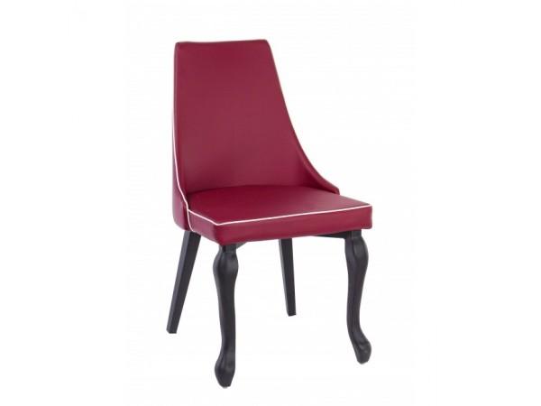 Καρέκλα από τεχνόδερμα(PU) και μεταλλική δομή VITTORIA RED 46x47x88 εκ.