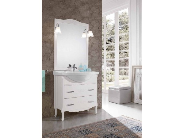 Έπιπλο Μπάνιου Ξύλινο ANNA Bianco 85