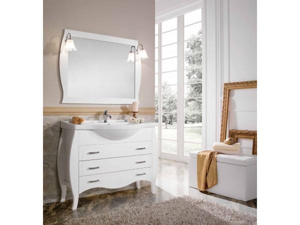 Έπιπλο Μπάνιου Ξύλινο DALIA Bianco 105