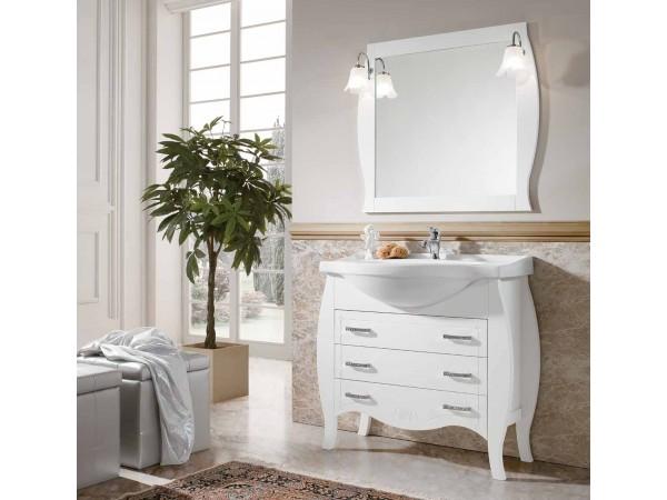 Έπιπλο Μπάνιου Ξύλινο DALIA Bianco 85