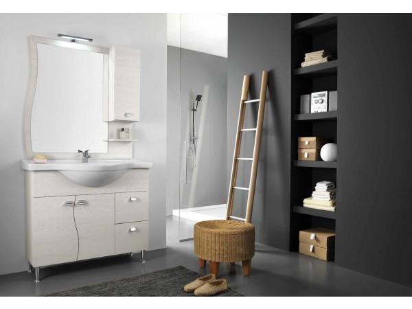 Έπιπλο Μπάνιου ONDA OLMO 105 σε λευκό χρωματισμό