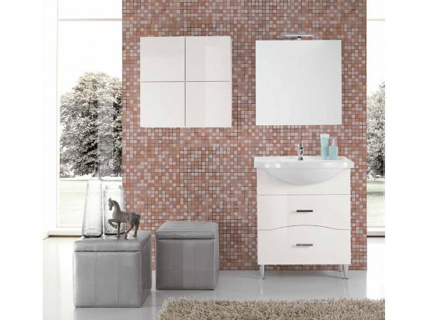Έπιπλο Μπάνιου CHIARA BIANCO σε λευκό γυαλιστερό χρωματισμό