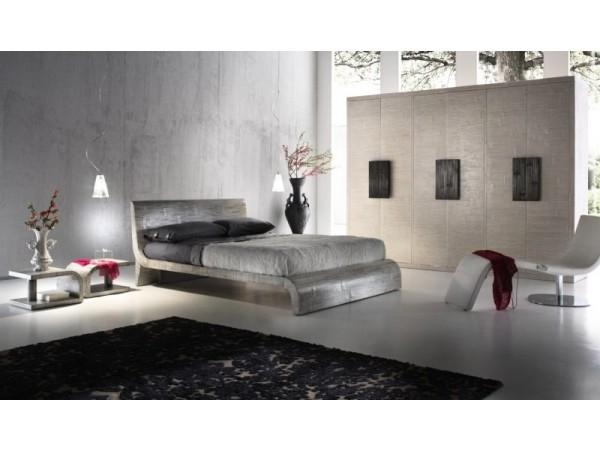 Κρεβάτι WAVE από ξύλο bamboo σε gray χρωματισμό.