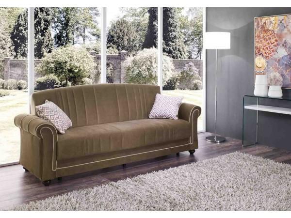 Καναπές κρεβάτι CAESAR με ύφασμα 244x77x80 εκ.