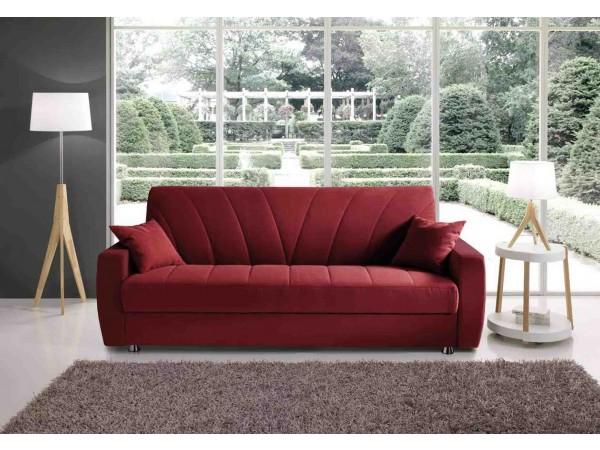 Καναπές κρεβάτι KIEV με οικολογικό δέρμα και ύφασμα 223x85x88 εκ.