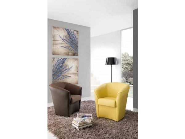 Πολυθρόνα VALENTINA με οικολογικό δέρμα ή σε συνδυασμό και με ύφασμα 72x70x75 εκ.