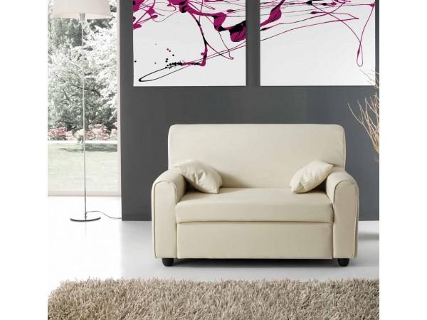 Καναπές mini LISA με οικολογικό δέρμα 125x75x83 εκ.