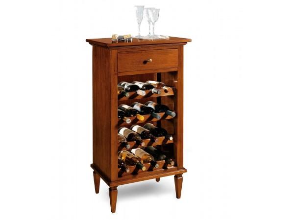 Μπουκαλοθήκη Κάβα κρασιών από μασίφ ξύλο για αποθήκευση Κρασιών 54x37x105 εκ.