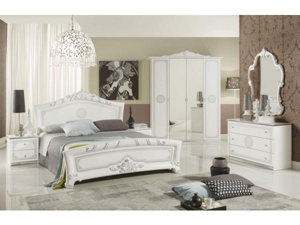 Κλασικό Υπνοδωμάτιο GRETA WHITE σε βαφή λάκας