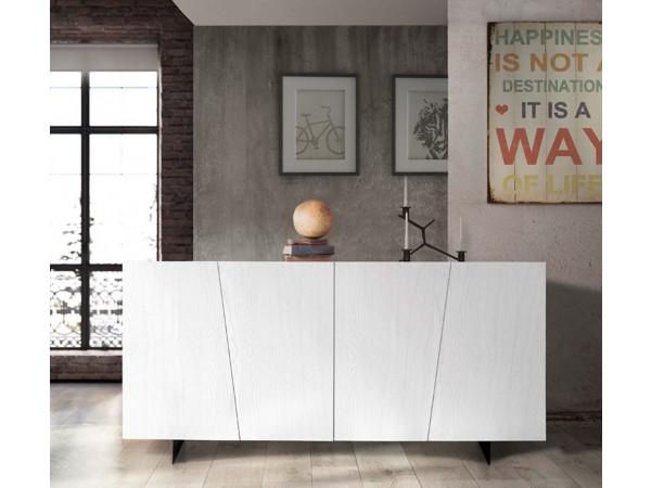 Μπουφές Ξύλινος Modern Collection Design σε λευκό χρωματισμό με 4 πόρτες 180x50x87 εκ.