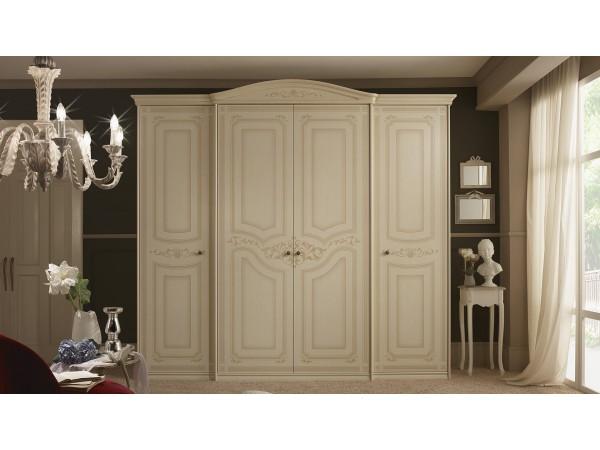 Ντουλάπα ORCHIDEA με 4 πόρτες σε μπεζ απόχρωση 283,5x64,5x260 εκ.