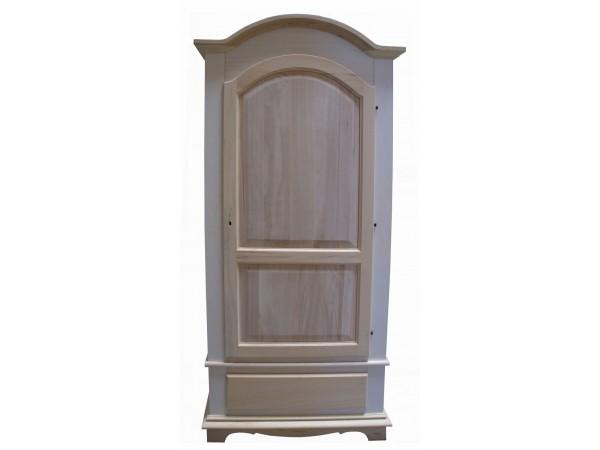Ντουλάπα Ξύλινη Άβαφη με 1 πόρτα και 1 συρτάρι